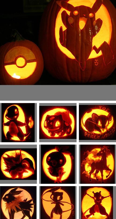 Pokemon halloween pumpkin carvings to satisfy my inner