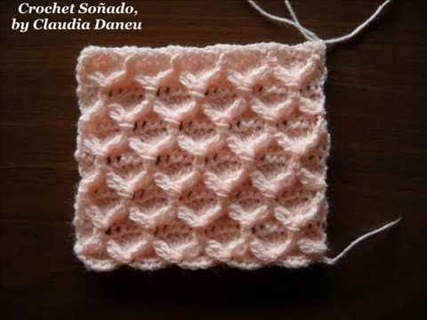 CROCHET ODD SLANT CROSSED STITCHES / CROCHET PUNTOS CRUZADOS MUY ...
