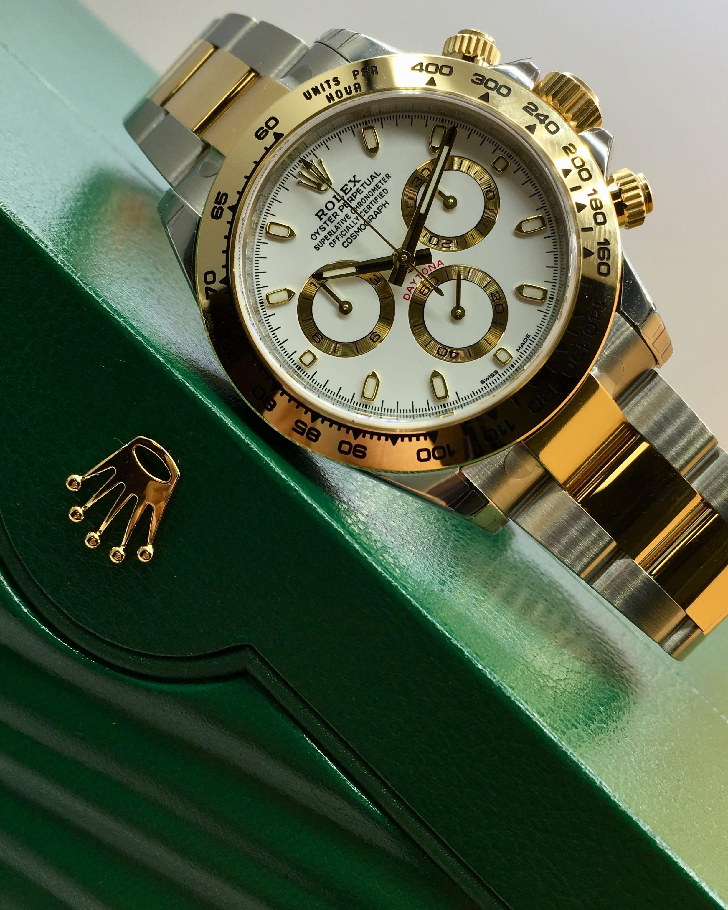 2c0a32882ba Rolex Daytona Steel   Gold White Dial 116503 Relógios Legais