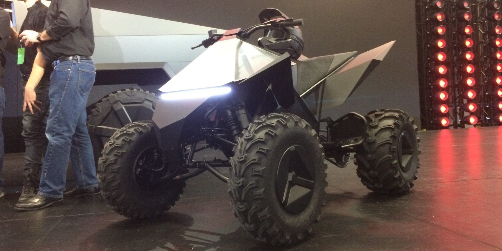 Tesla To Launch Cyberquad Electric Atv In Late 2021 Hints At Possible Dirt Bike Hot Rods Cars Muscle Tesla Electric Cars