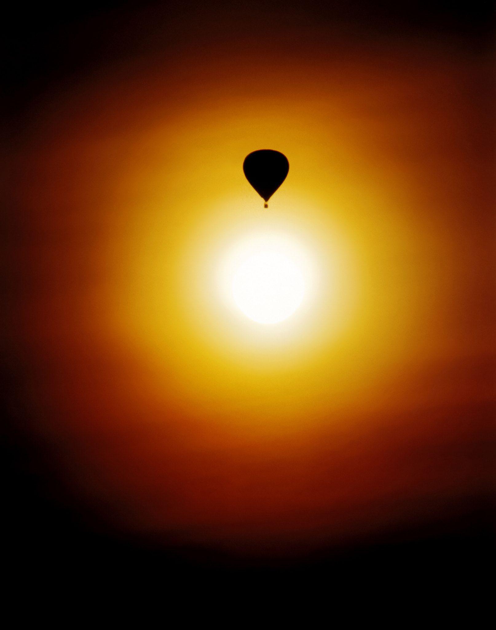 Hot Air Balloon 22 In Sunset
