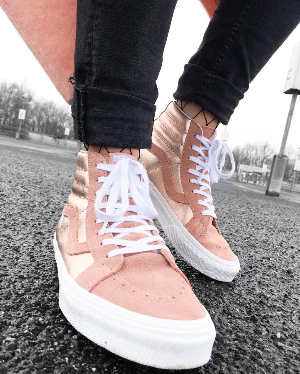 166ecac523 Lighten up with the 2-Tone Metallic Sk8-Hi Reissue. Photo via  kiimscha