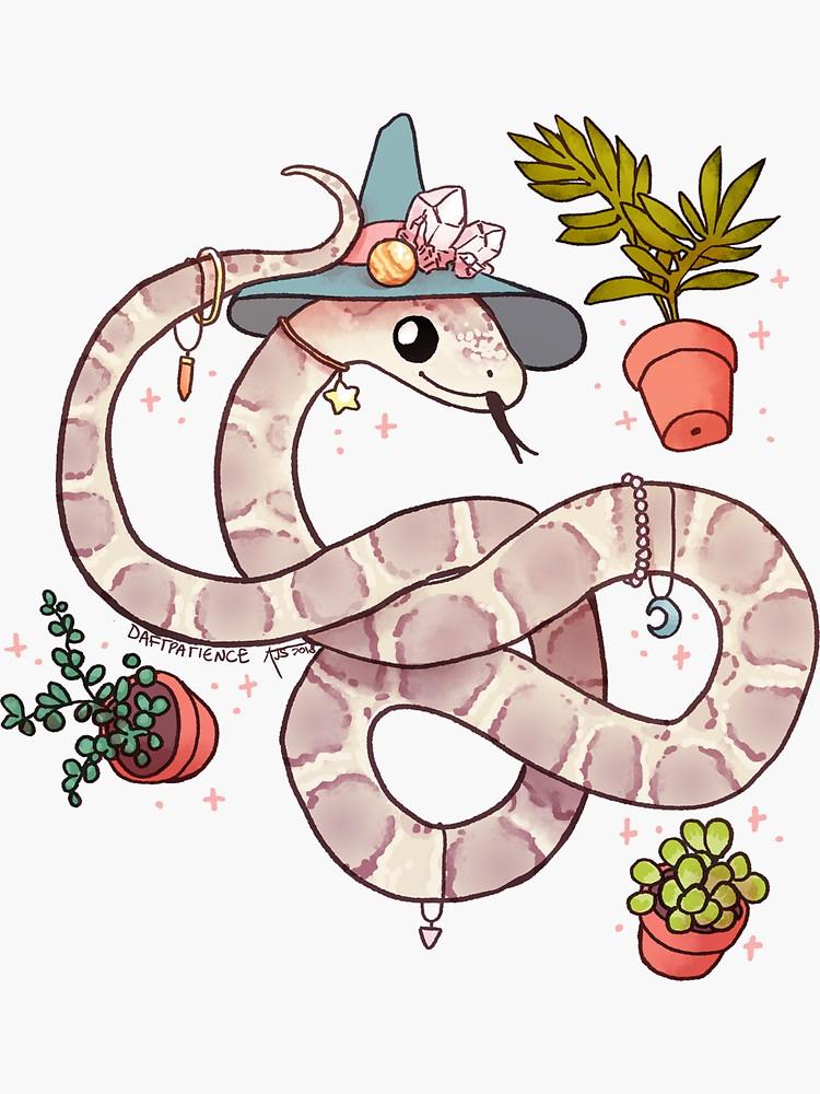 'Corn Snake: Odysseus' Sticker by Andréa Sutinen