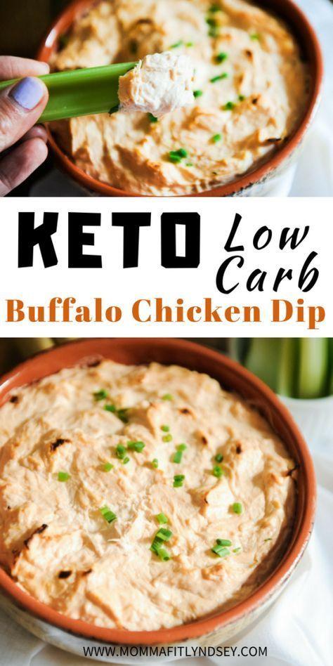 Keto Buffalo Chicken Dip Appetizer Recipe - Momma Fit Lyndsey