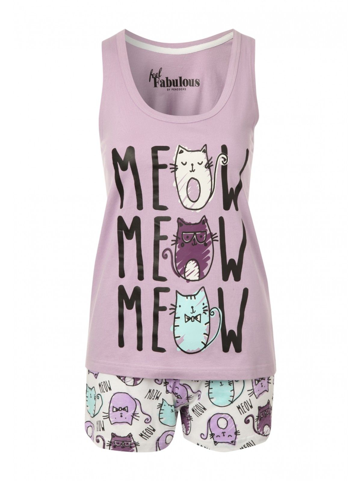 skate shoes temperament shoes choose authentic Womens Cat Novelty Top & Shorts   Peacocks   Pajamas   Kids ...