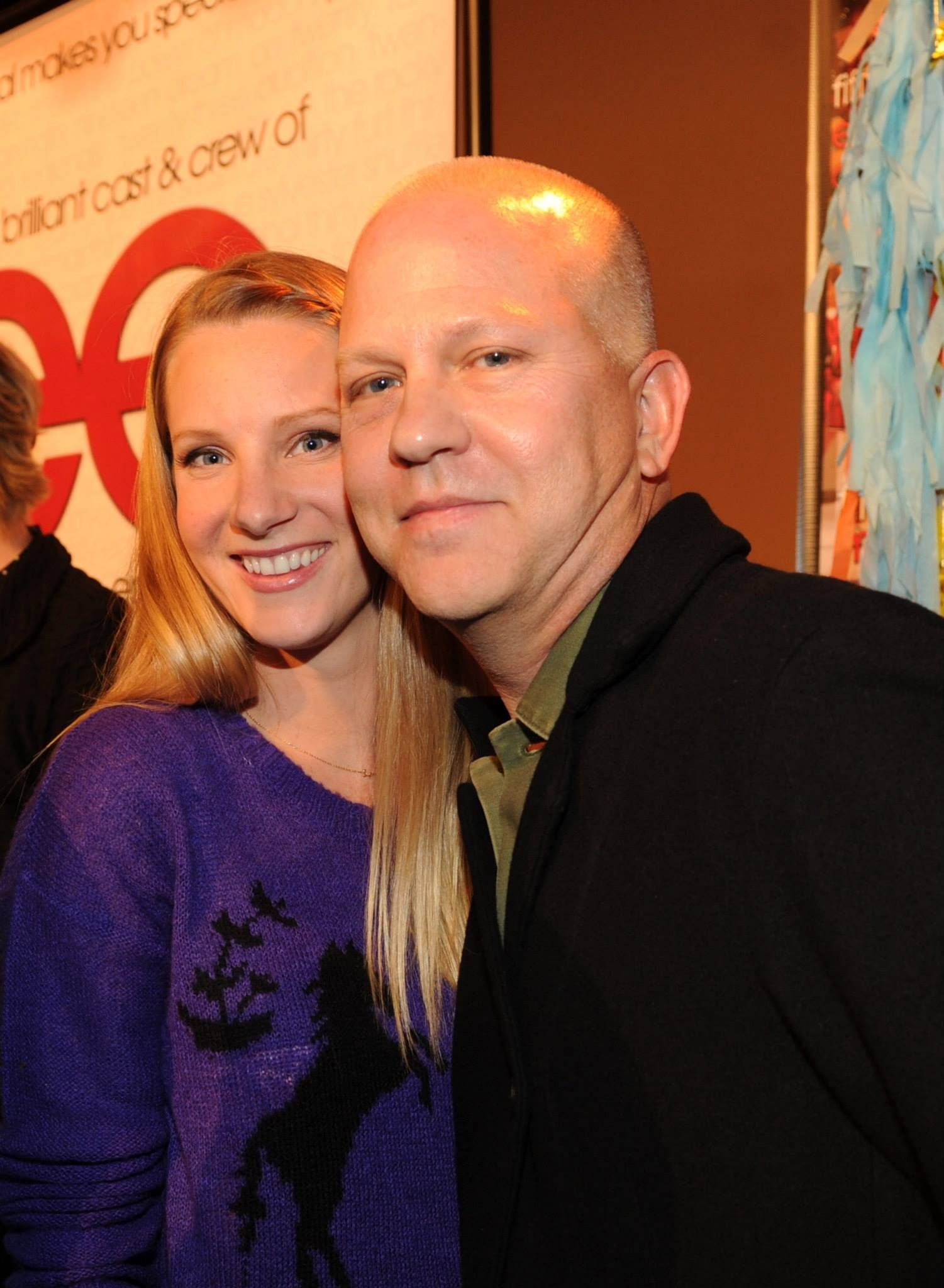 GLEE: The GLEE cast celebrates during the GLEE 100th Episode on Monday, Feb. 24 in Los Angeles,CA. (Pictured L-R) Heather Morris and Creator and Executive producer Ryan Murphy.