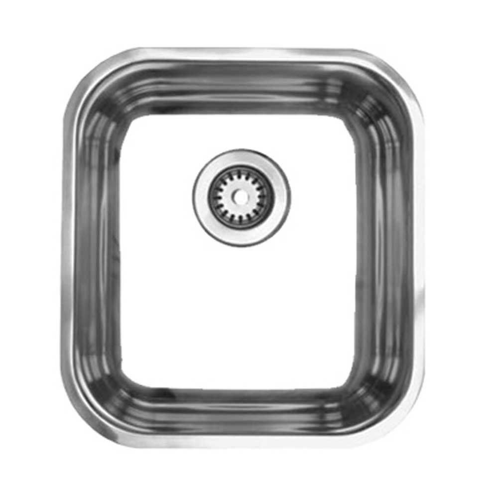 Noah\'s Collection Undermount Brushed Stainless Steel 15-1/4 in ...