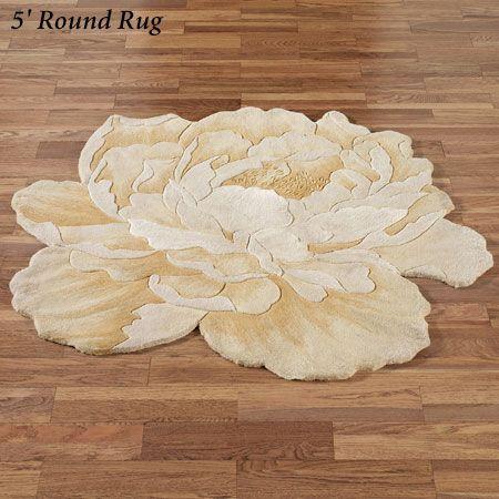 Midas Peony Round Flower Rugs