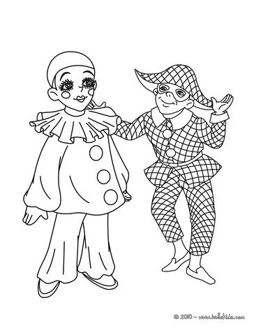 Pierrot Paper Doll Pesquisa Do Google Coloriage Carnaval