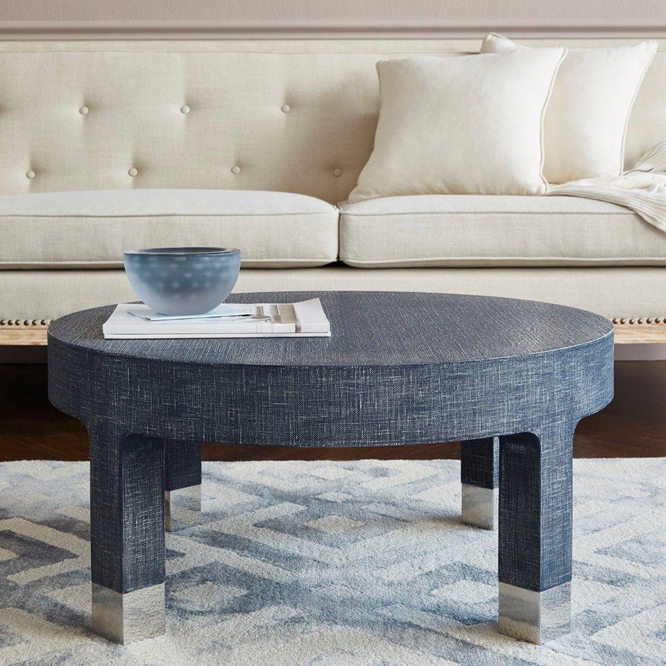 Dakota Round Coffee Table Navy Blue Bungalow 5 Coffee Table