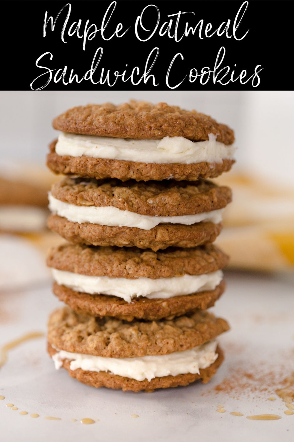 Maple Oatmeal Sandwich Cookies