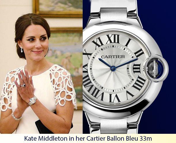59f0cb7de0716 Kate Middleton in her Cartier Ballon Bleu 33mm #KateMiddleton ...