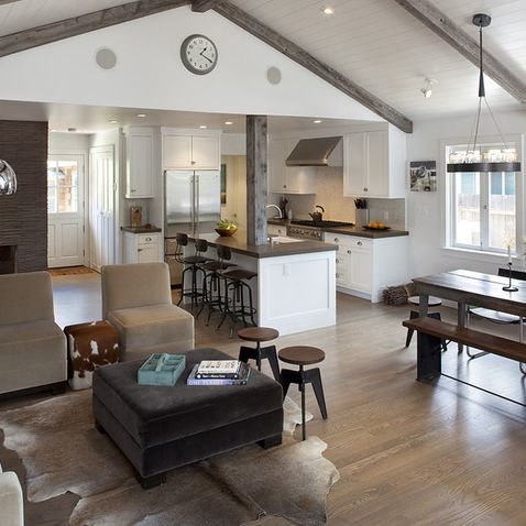 Small Farmhouse Plan Design Ideas Pictures Remodel And Decor Open Concept Kitchen Living Room Farm House Living Room Open Concept Living Room