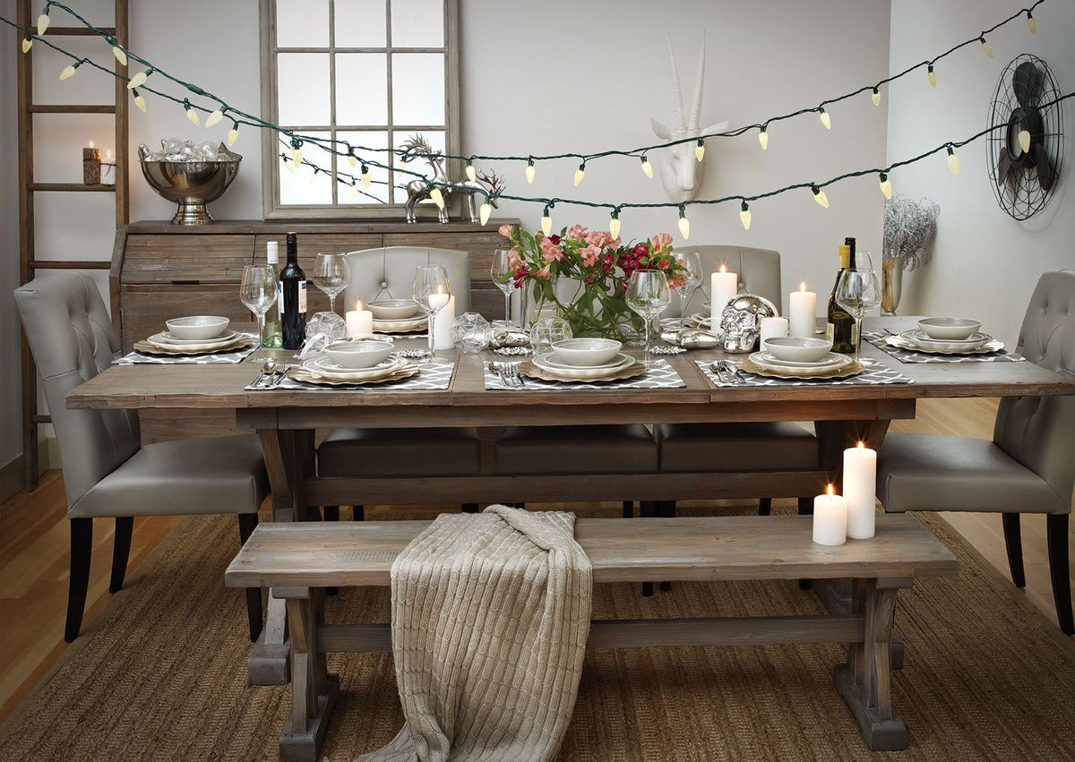 Featured: Chateau Extension Dining Table, Chateau Bench,