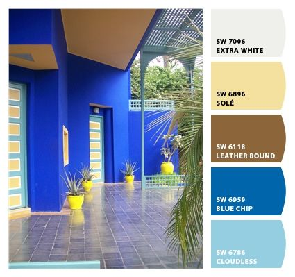 Paint Colors From Chip It By Sherwin Williams Jardin Majorelle