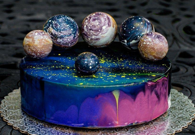 Swell 27 Inspired Image Of Galaxy Birthday Cake Galaxy Cake Cool Funny Birthday Cards Online Necthendildamsfinfo