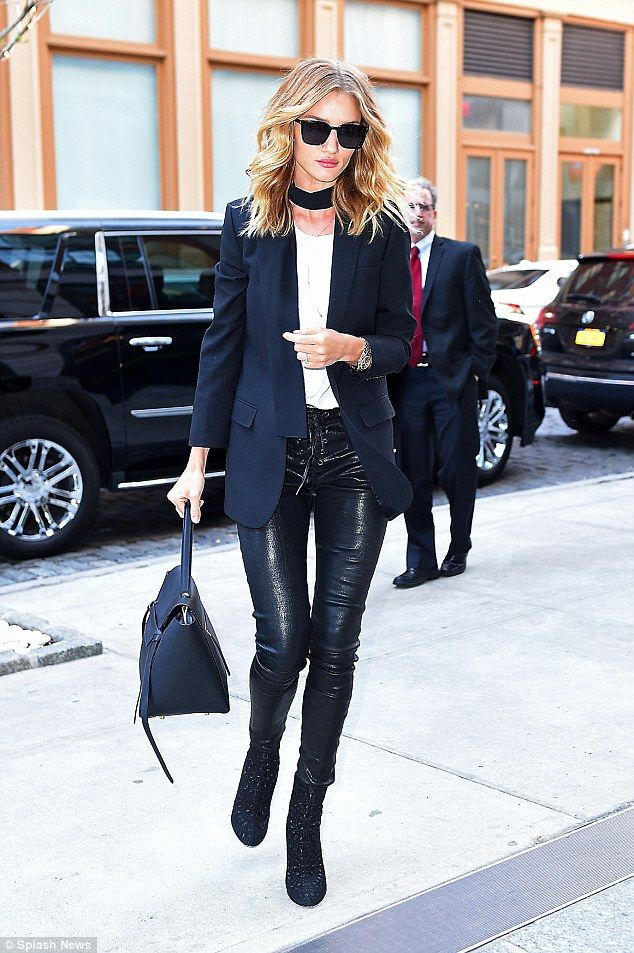 Stunning star: Rosie Huntington-Whiteley proved that she'd earned her place at the upcoming Met Gala as she stepped out in another stunning ensemble in New York on April 30, 2016