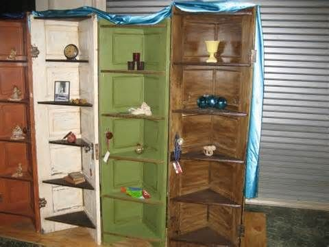 Repurposed Vintage Doors Turned Into Custom Corner Shelves. Check Us .