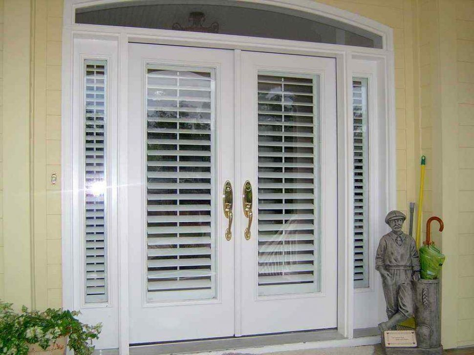Furniture French Patio Doors With Built In Blinds Stylish Royal