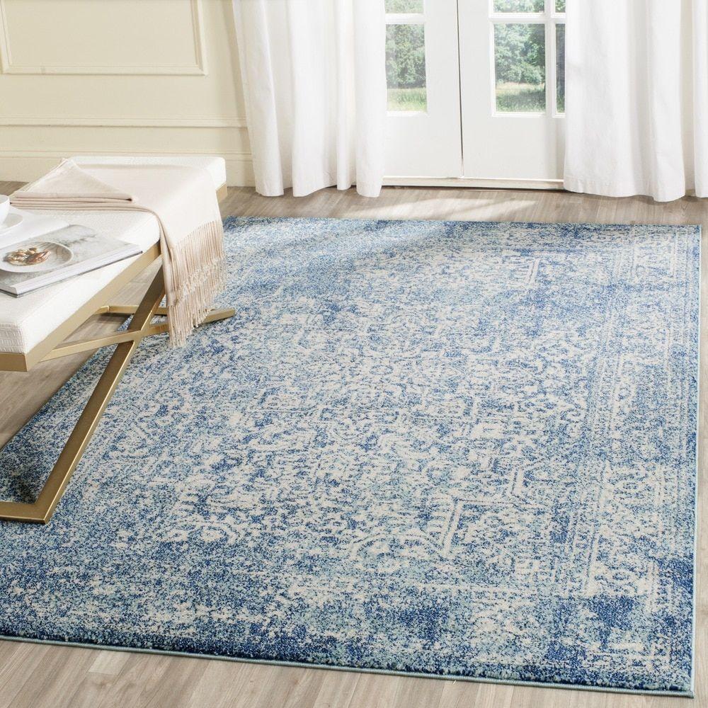 Safavieh Evoke Blue/ Ivory Rug (5' 1 x 7' 6)