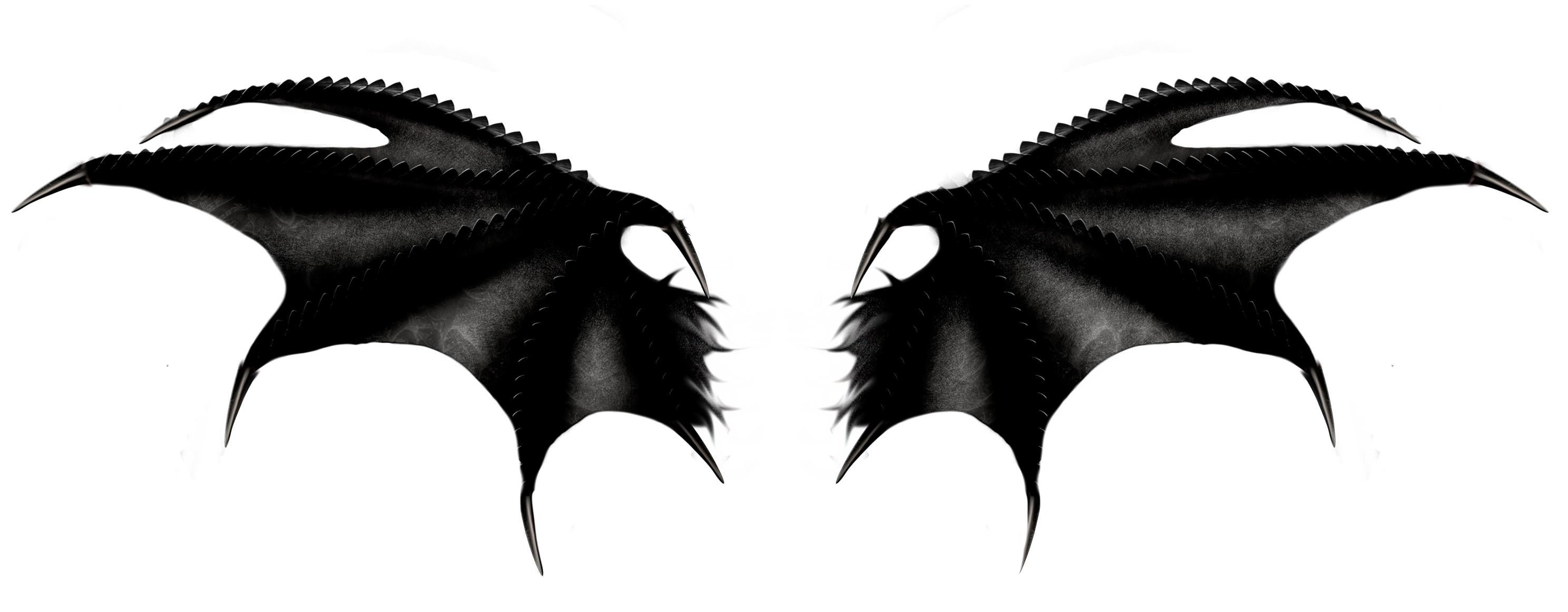 Haunted Black Wings Png Clipart Wings Png Black Wings Demon Wings