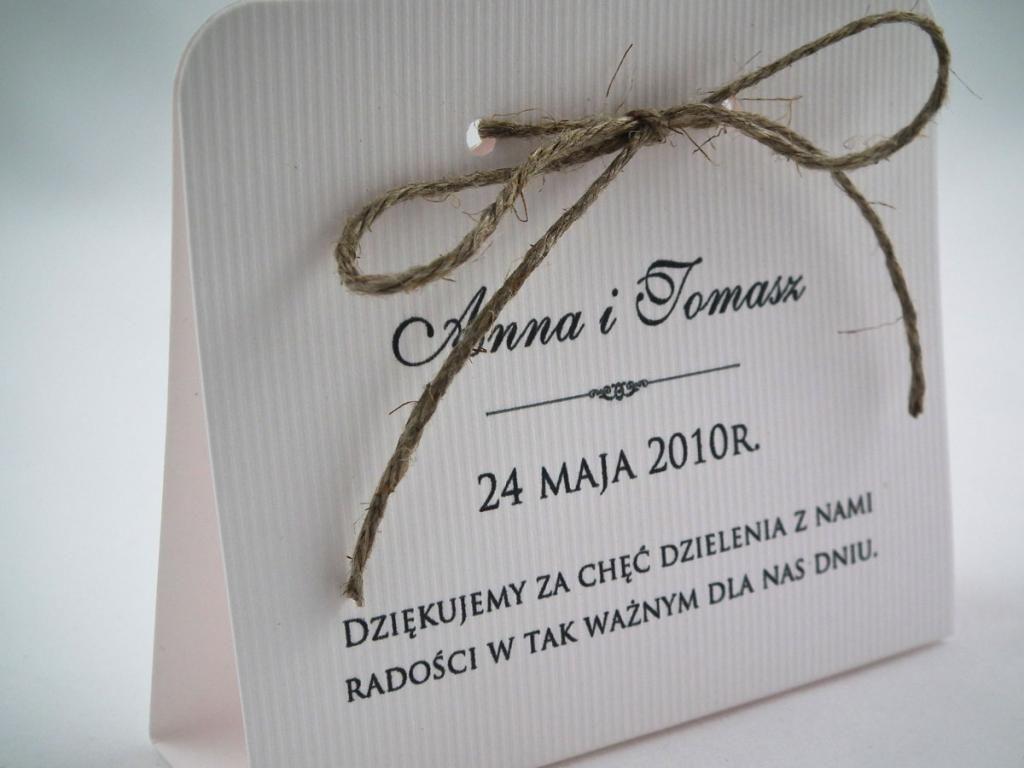 2w1 Podziekowania Dla Gosci I Winietki Wizytowki 3500503957 Oficjalne Archiwum Allegro Place Card Holders Place Cards Book Cover