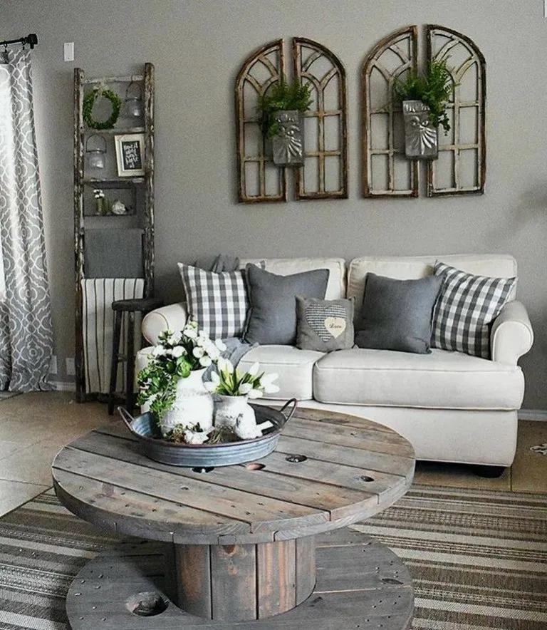 28+ Best Living Room Decor Ideas With Farmhouse Style