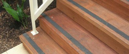 Slippery Timber Platforms Made Safe With Floor Sheets And Stair Nosing. |  Stair Nosing Safe | Pinterest | Stair Nosing