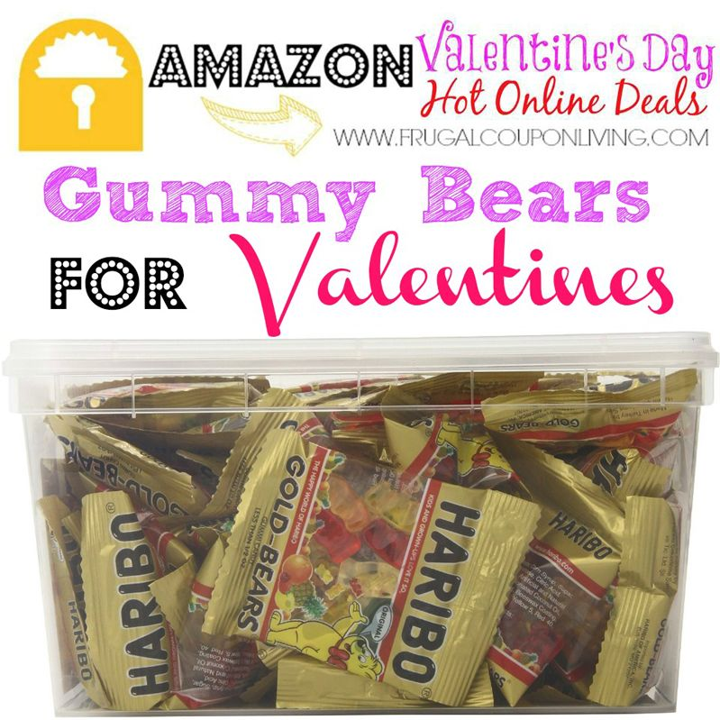Make some fun and yummy Valentines for your kids to take to school with these Haribo Gummy Bear Mini Bags! Details are at Frugal Coupon Living.