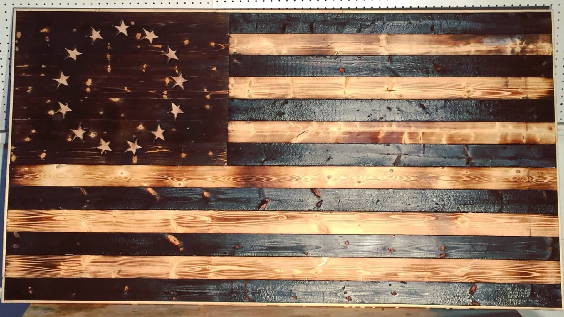 Diy Wood Burned American Flag Modern Builds Ep 18