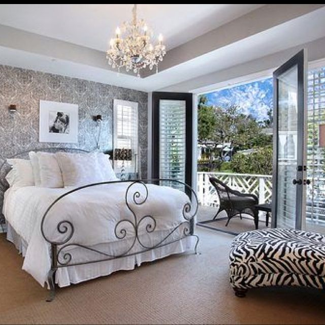 Bedroom Art Ideas Male Bedroom Colour Schemes Bedroom Bench Purpose Bedroom Ideas Pinterest: Love The Balcony Off The Master...