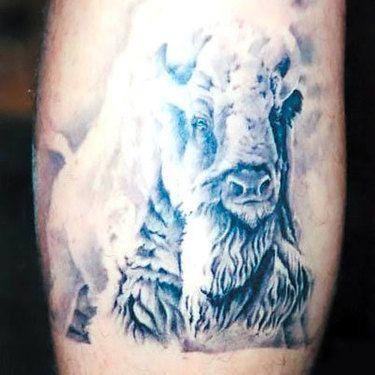 White Buffalo Tattoo Idea | Tattoos and stuff | Buffalo tattoo ...