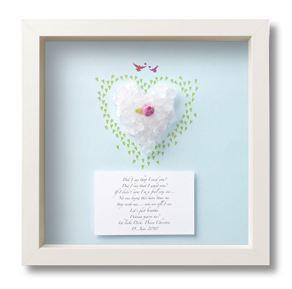 Heiratsantrag oder Geschenk zur Hochzeit | Geschenk