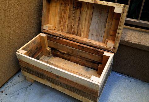 Costruire Una Cassapanca Pdf.Cassapanche Realizzate Con I Bancali Progetti Con Pallet Di