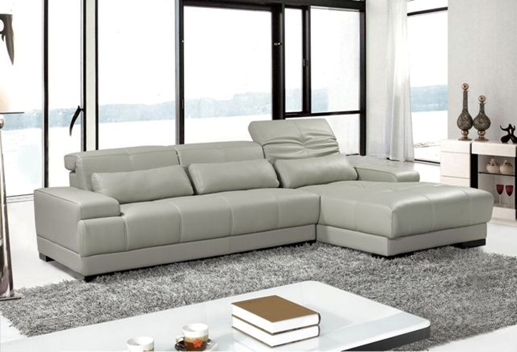 Adjule Advanced Italian Top Grain Leather Sectional Sofa