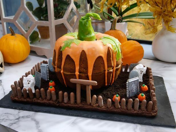 Pumpkin Cake Graveyard Recipe Pumpkin Cake Food Network
