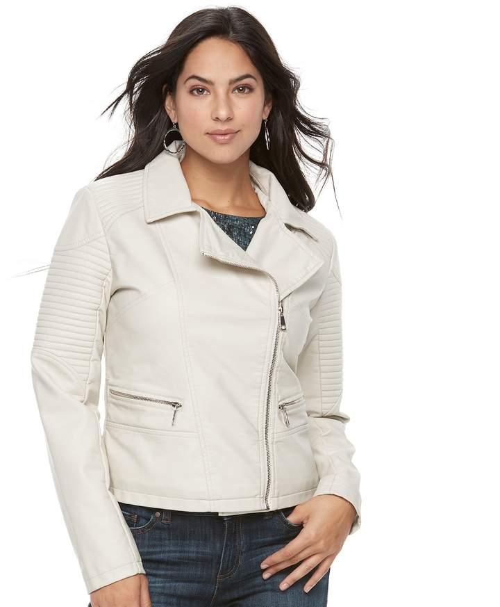 adea414b8311 Women s Apt. 9® Textured Faux-Leather Moto Jacket