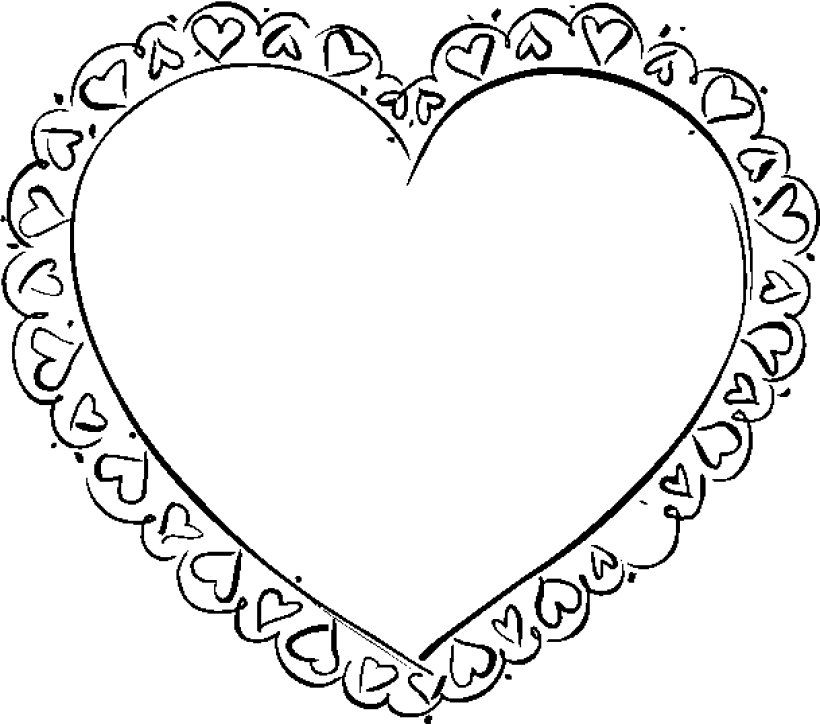 valentine color sheet | Coloring Picture HD For Kids | Fransus ...