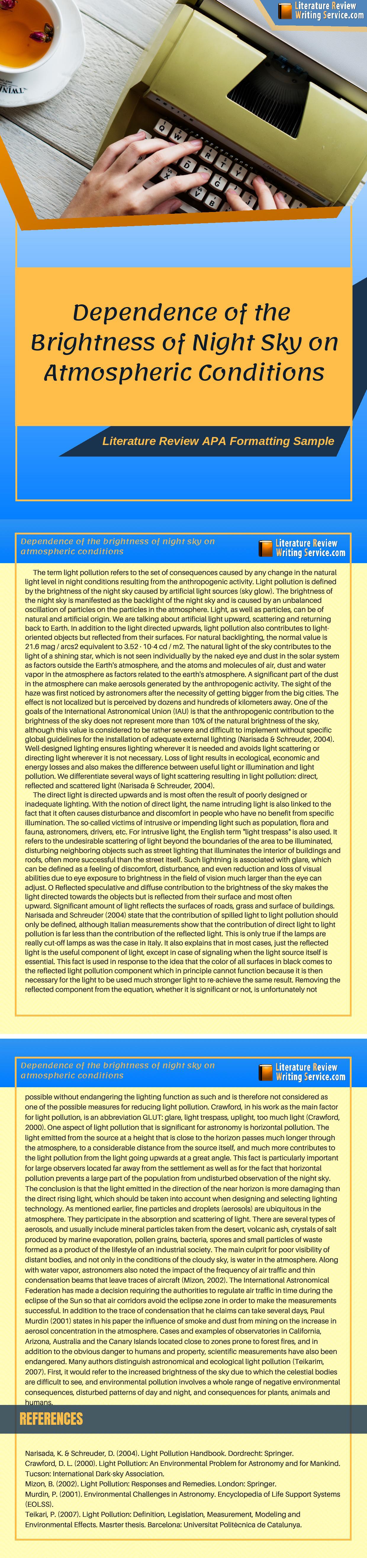 literature review apa formatting httpswww
