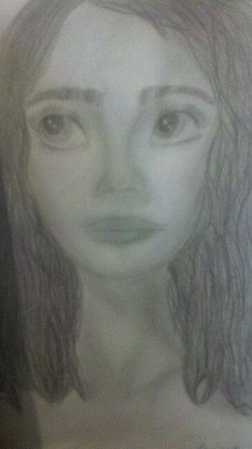 El primer rostro que eh dibujado... es obvio que aun me falta aprender c: