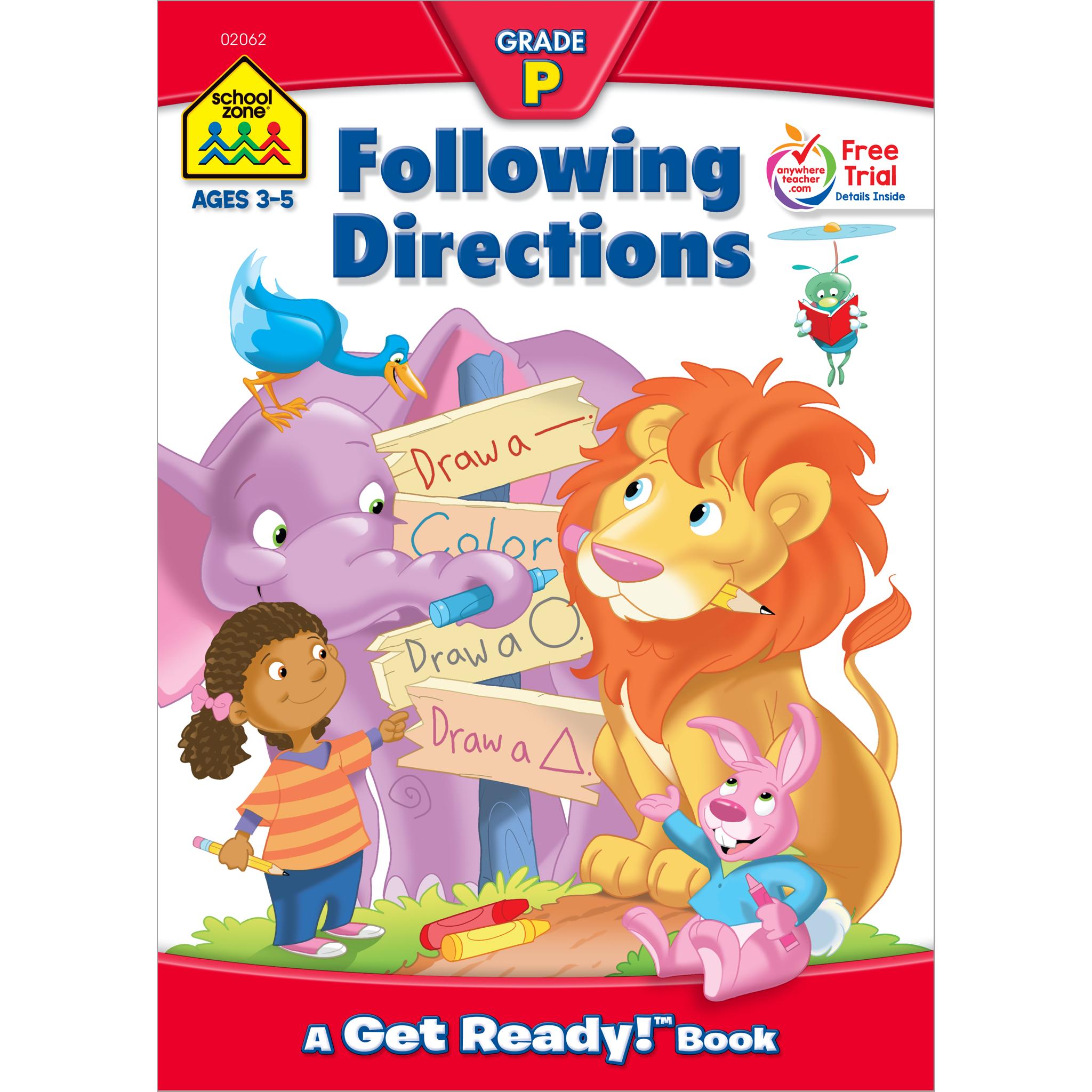 Following Directions Preschool Workbook