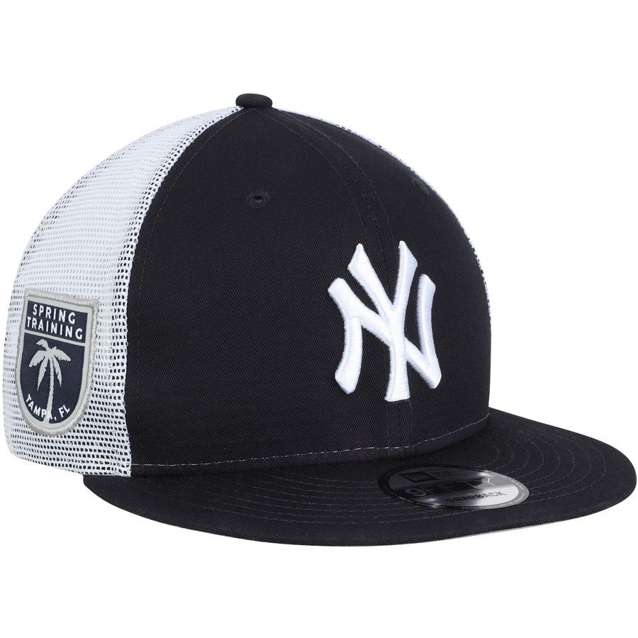 9d5a5842ea8e5 Men s New York Yankees New Era Navy League Patch 9FIFTY Trucker Hat ...