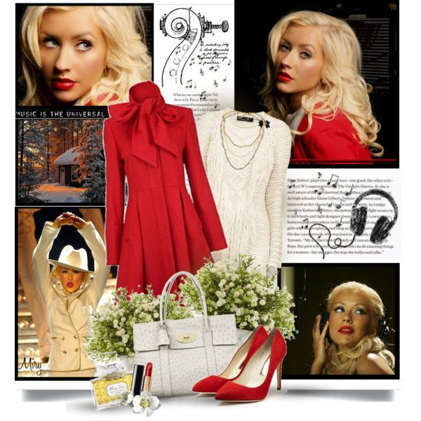 Christina Aguilera by thewondersoffashion on Polyvore featuring Mode, Isabel Marant, Rupert Sanderson, Mulberry, Moschino, Chanel, Nearly Natural, Christian Dior and Horace