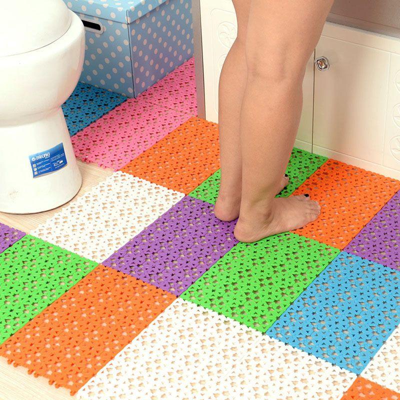 30*20 cm Cores Dos Doces de Plástico Esteiras de Banho Fácil de Banho Sala de banho com Duche de Massagem Tapete De Borracha Não-slip Mat Tapis Salle de Bain