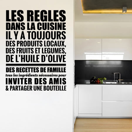 stickers r gles cuisine stickers malin stickers textes. Black Bedroom Furniture Sets. Home Design Ideas