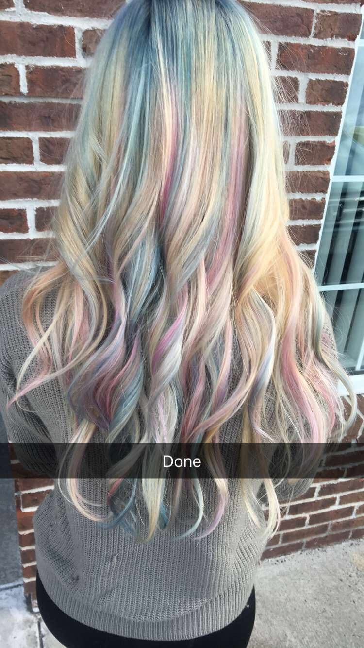 Unicorn hair hair pinterest unicorn hair opal hair and hair