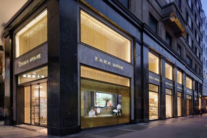 zara home windows milan italy retail design blog. Black Bedroom Furniture Sets. Home Design Ideas