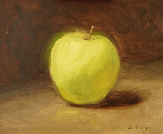 Golden Delicious by Alecia Schmitz Oil ~ 6 x 6