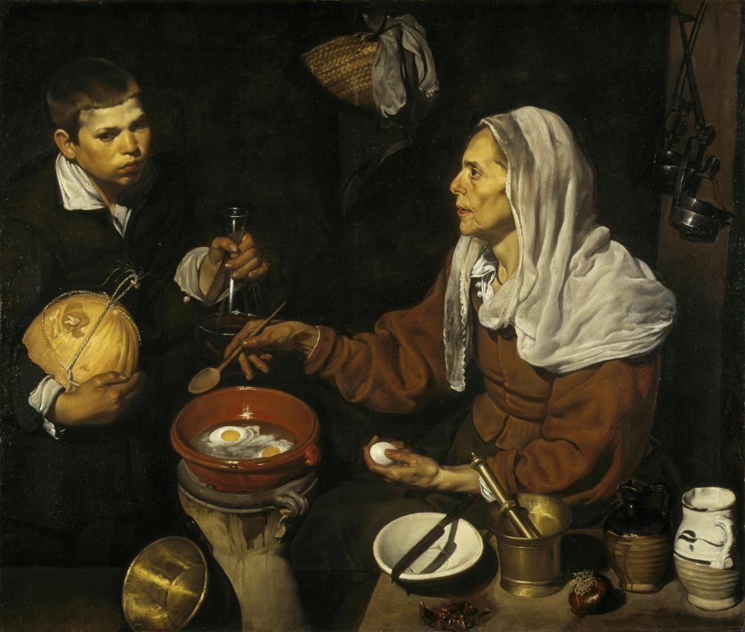An Old Woman Cooking Eggs The Frick Collection Diego