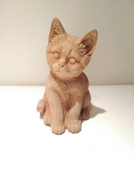 Cat garden statue, pottery cat, Outdoor decoration, farm decor ...